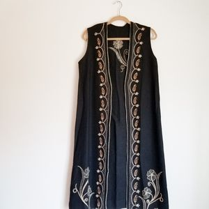 Vintage Tapework Long Vest